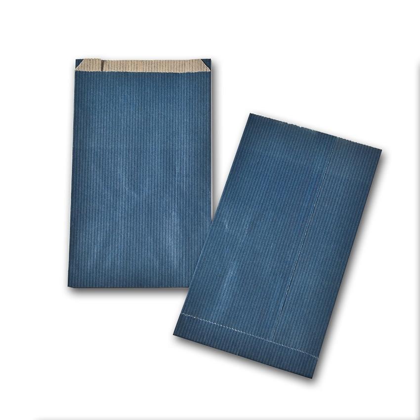 Boite de 250 pochettes cadeau à soufflet bleues 180x350 60 g/m²