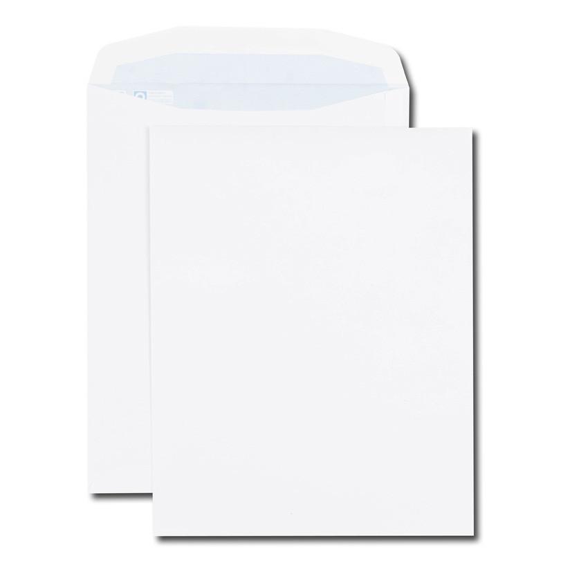 Boite de 250 enveloppes patte trapèze blanches C4 229x324 100 g/m² gommées
