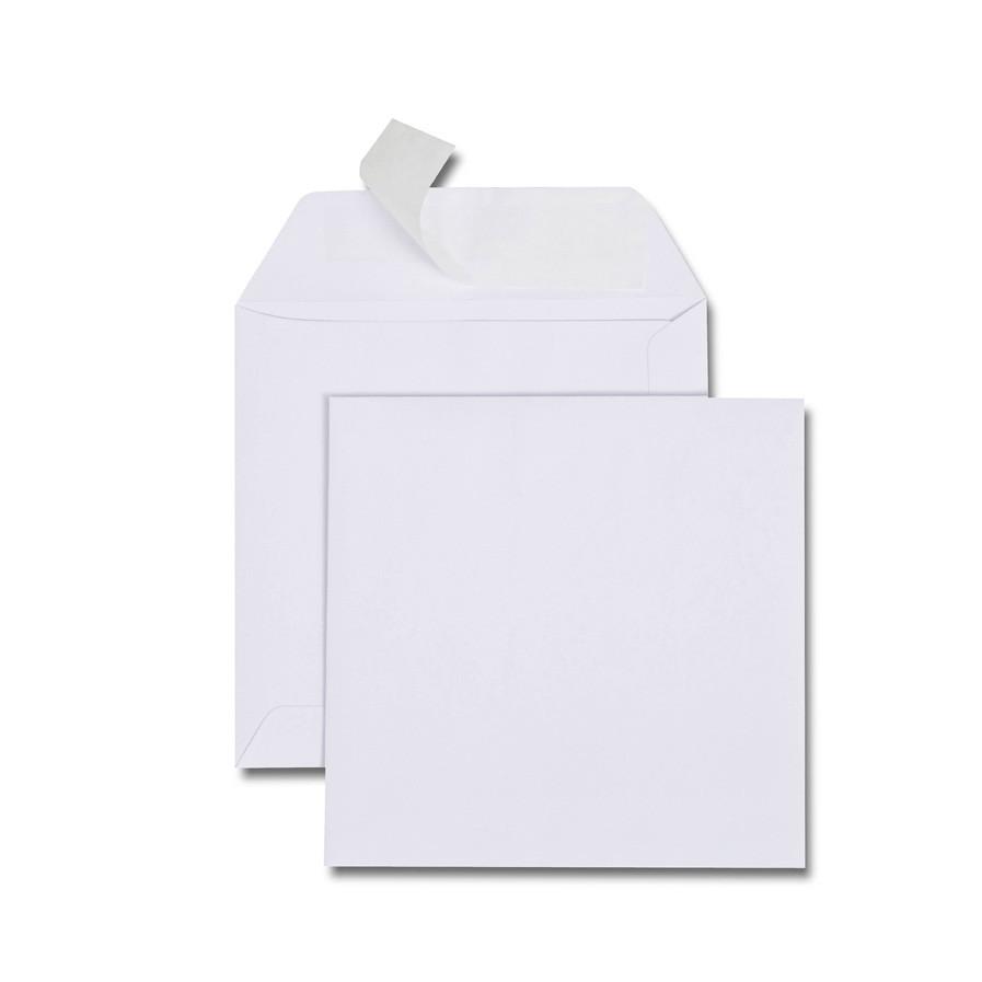 Boîte de 500 enveloppes carrées blanches 150x150 90 g/m²