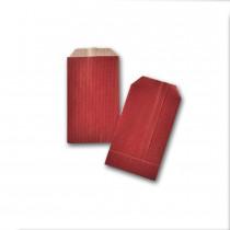 Boite de 250 pochettes cadeau rouges 70x120 60 g/m²
