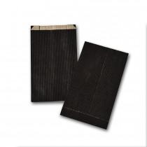 Boite de 250 pochettes cadeau à soufflet noires 120x200 60 g/m²