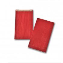 Boite de 250 pochettes cadeau à soufflet rouges 120x200 60 g/m²
