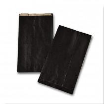 Boite de 250 pochettes cadeau à soufflet noires 160x270 60 g/m²