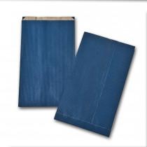 Boite de 250 pochettes cadeau à soufflet bleues 160x270 60 g/m²