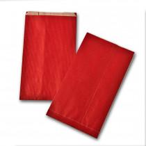 Boite de 250 pochettes cadeau à soufflet rouges 160x270 60 g/m²