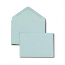 Boîte de 500 enveloppes recyclées vélin bleu C6 114x162 75 g/m² gommées