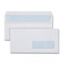 Boîte de 500 enveloppes blanches DL 110x 220 80g/m² fenêtre 35x100 autocollantes