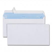 Boîte de 500 enveloppes blanches DL 110x 220 80g/m² bande de protection