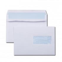 Boîte de 500 enveloppes blanches C5 162x229 80 g/m² fenêtre 45x100 autocollantes