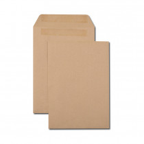 Boîte de 500 pochettes kraft brun B5 176x250 90 g/m² autocollantes