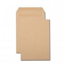 Boîte de 250 pochettes kraft brun C4 229x324 90 g/m² autocollantes