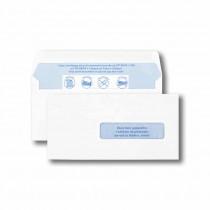 Boite de 1000 enveloppes TIP blanches 90x182 80 g/m² fenêtre 22x88 gommées