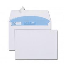 Boîte de 500 enveloppes blanches C6 114x162 90 g/m² bande de protection