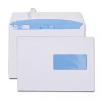 Boîte de 500 enveloppes blanches C5 162x229 100 g/m² fenêtre 45x100 bande de protection