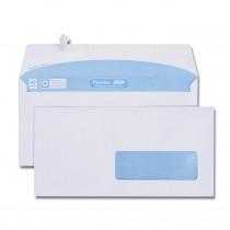 Boîte de 500 enveloppes blanches DL 110x220 80 g/m² fenêtre spéciale numérique 35x100 bande de protection