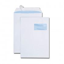 Boîte de 250 pochettes blanches C4 229x324 90 g/m² fenêtre spéciale numérique 100x50 bande de protection