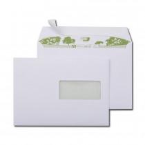 Boite de 500 enveloppes extra blanches 100% recyclées C5 162x229 90 g/m² fenêtre 45x100 bande de protection