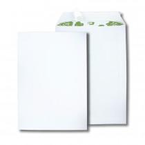 Boite de 250 pochettes extra blanches 100% recyclées C4 229x324 100 g/m² bande de protection