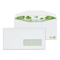 Boite de 1000 enveloppes patte trapèze blanches|C6/C5 115x229 80 g/m² fenêtre 35x100 gommées