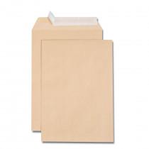 Boîte de 500 pochettes kraft adour C5 162x229 90 g/m² bande de protection