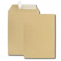 Boite de 500 pochettes kraft armé brun C5 162x229 130 g/m² bande de protection