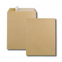 Boite de 250 pochettes kraft armé brun 24 260x330 130 g/m² bande de protection