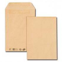 Boîte de 500 pochettes kraft brun C5 162x229 90 g/m² autocollantes