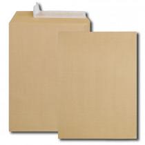 Boite de 250 pochettes kraft armé brun 26 130 g/m² bande de protection
