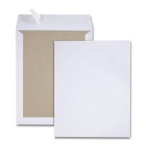 Boite de 100 pochettes dos carton velin blanc 24 260x330 120 g/m² bande de protection