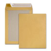 Boite de 100 pochettes dos carton kraft brun 24 260x330 120 g/m² bande de protection