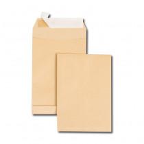 Boite de 250 sacs à soufflets kraft brun C5 162x229 120 g/m² bande de protection