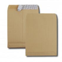 Boite de 250 sacs à soufflets kraft armé brun C4 229x324 130 g/m² bande de protection