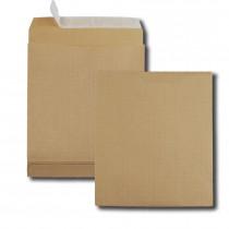 Boite de 50 sacs à soufflets kraft armé brun C4 229x324 130 g/m² bande de protection