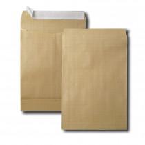 Boite de 250 sacs à soufflets kraft armé brun 24 260x330 130 g/m² bande de protection