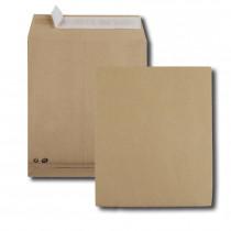 Boite de 250 sacs à soufflets kraft brun 24 260x330 120 g/m² bande de protection