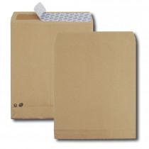 Boite de 250 sacs à soufflets kraft brun 26 280x375 120 g/m² bande de protection