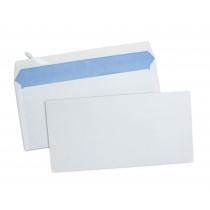 Boîte de 500 enveloppes blanches DL 110x220 80 g/m² bande de protection