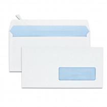 Boîte de 500 enveloppes blanches DL 110x220 80 g/m² fenêtre 35x100 bande de protection
