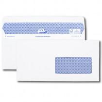 Boîte de 100 enveloppes blanches DL+ 112x225 90 g/m² fenêtre 45x100 Secure®