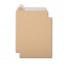 Boîte de 250 pochettes kraft brun 24 260x330 90 g/m² bande de protection