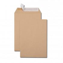 Boîte de 500 pochettes kraft brun B5 176x250 90 g/m² bande de protection