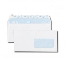 Paquet de 50 enveloppes blanches DL 110x220 75 g/m² fenêtre 45x100 bande de protection