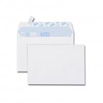 Paquet de 50 enveloppes blanches + 10 enveloppes C6 114x162 75 g/m² gratuites bande de protection