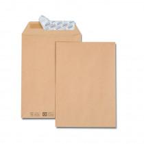 Paquet de 50 pochettes kraft brun + 10 pochettes C5 162x229 85 g/m²|gratuites bande de protection