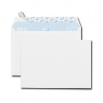 Paquet de 50 enveloppes blanches C5 162x229 80 g/m² précasées bande de protection