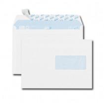 Paquet de 50 enveloppes blanches C5 162x229 80 g/m² fenêtre 45x100 bande de protection