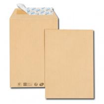 Paquet de 50 pochettes kraft brun C5 162x229 85 g/m² bande de protection