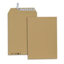 Paquet de 25 pochettes kraft brun dont 5 gratuites C4 229x324 85 g/m² bande de protection