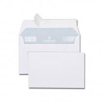 Paquet de 20 cartes 82x128 200g + 20 enveloppes bristol blanches 90x140|100 g/m² bande de protection