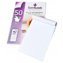 Bloc de correspondance uni de 50 feuilles blanches A4 90 g/m²